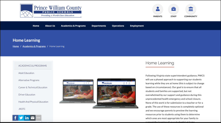 PWCS Home Learning