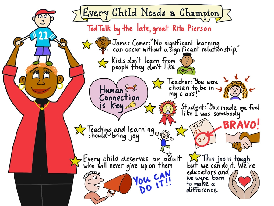 Every child needs a champion graphic